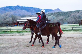 heading to the start with Gina and Yankee. photo by Susan Kordish/Cowgirl Photography