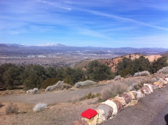 looking down on Reno