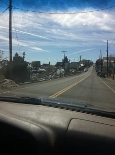 driving into Virginia City