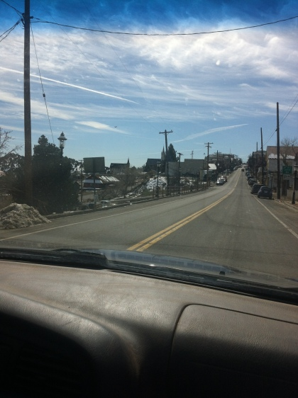 driving into Virginia City