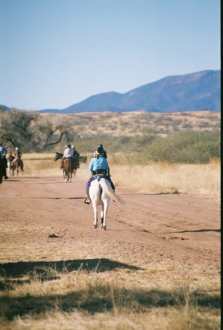 leaving base camp on the Empire Ranch air strip