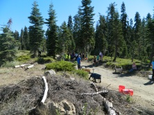 Soda Springs Road -- riders come in on this road, crews line up to meet them and start pulling tack