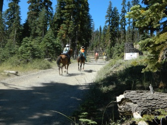 riders leaving Robinson Flat