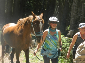 friend Crysta and her horse Digs (they finished, C's 2nd buckle and Digs's 1st!)
