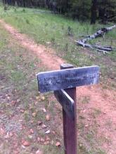 Trail signage.