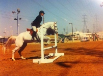 """Jumping. Also never failed to unnerve me with the """"Will she or won't she?"""" when it came to jumping and not spinning out at the fence."""