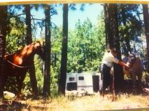 First mountain trail trip. Summer 2001.