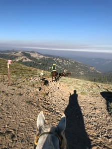 Looking out into Granite Chief Wilderness -- and the smoke layer beyond