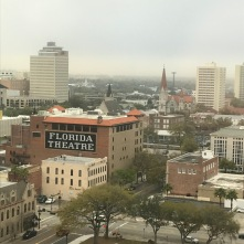 View from the hotel room. Jacksonville is a really cool city with some beautiful old architecture.