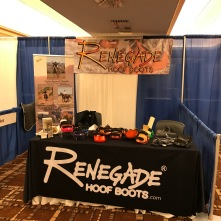 The trade show booth all set up and ready to go!