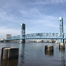 Enjoying the Jacksonville Riverwalk on Sunday morning.